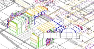 3D Darstellung der Lüftungstechnik mit Wärmerückgewinnung