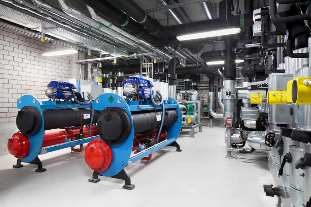 Kältemaschinen im Laborgebäude