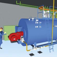 Dampfkesselanlage für Textil-Service Betrieb