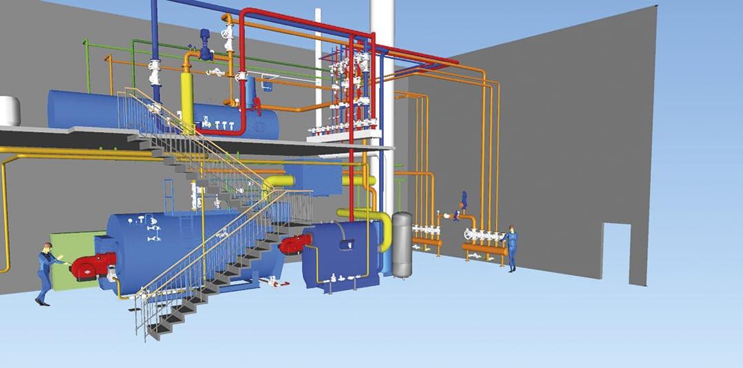 Dampfkesselanlage für Textil-Service Betrieb - Herbert Gruppe